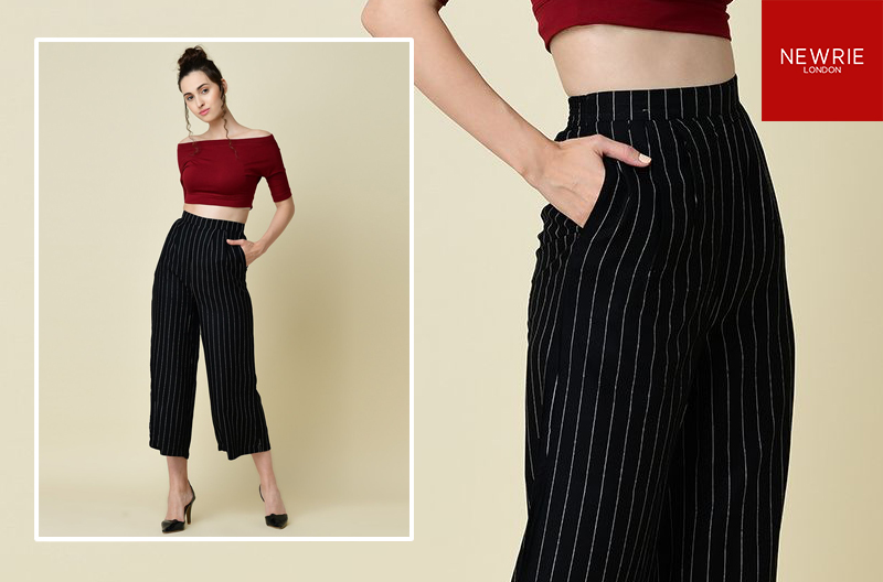 Stripes Flarred Trousers
